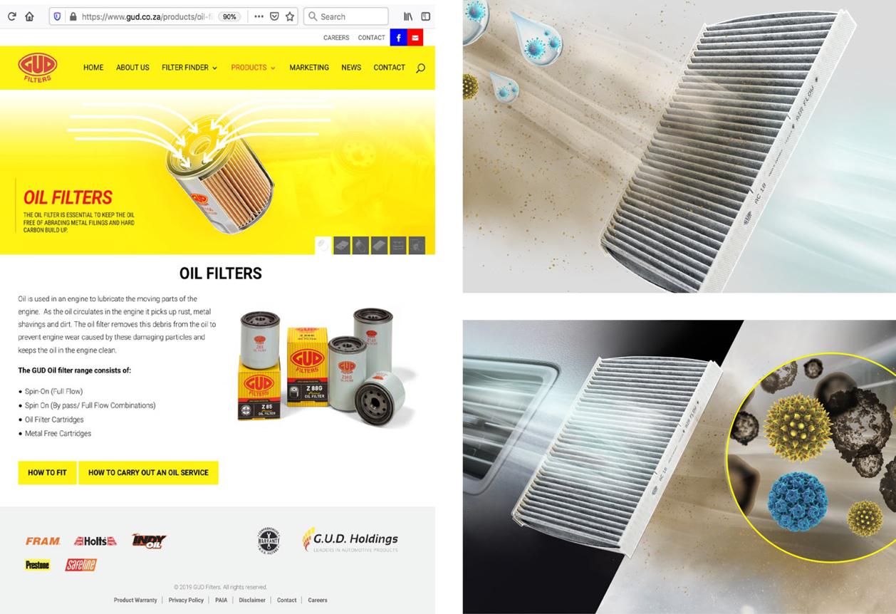 GUD Filters Website